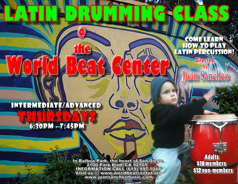 Advanced Conga Drumming @ World Beat Center | San Diego | California | United States