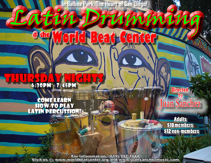 Drum circles, San Diego drum circles, Latin Drumming circles, Latin Percussion class, Congas, Bongos, Timbales,