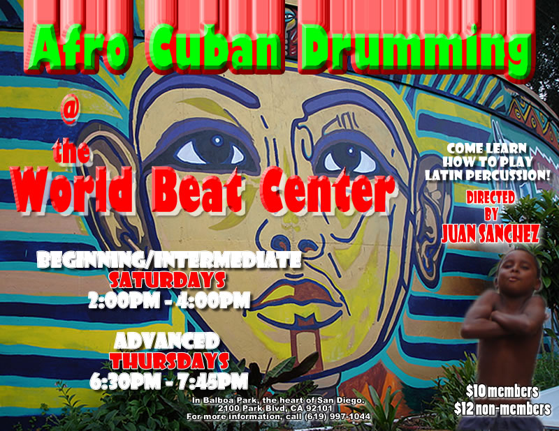 Beginning Afro Cuban Drumming Class @ World Beat Center | San Diego | California | United States