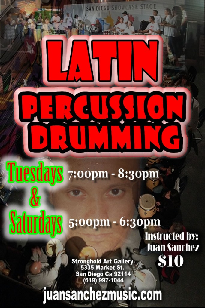Latin Percussion Drumming Classes Beginning @ The Stronghold | San Diego | California | United States