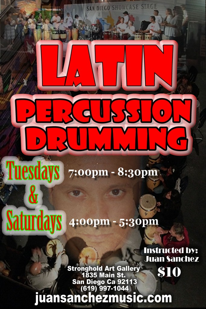 Latin Percussion Drumming Classes Beginning @ The Stronghold   San Diego   California   United States