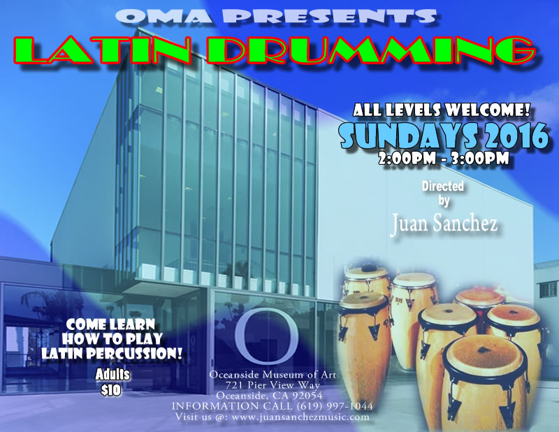 Latin Drumming Class @ the OMA @ Oceanside museum of Art | Oceanside | California | United States