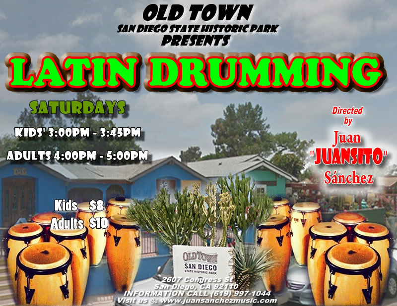 Latin Drumming Class in OLD TOWN San Diego State Historic Park @ Old Town San Diego State Historic Park | San Diego | California | United States