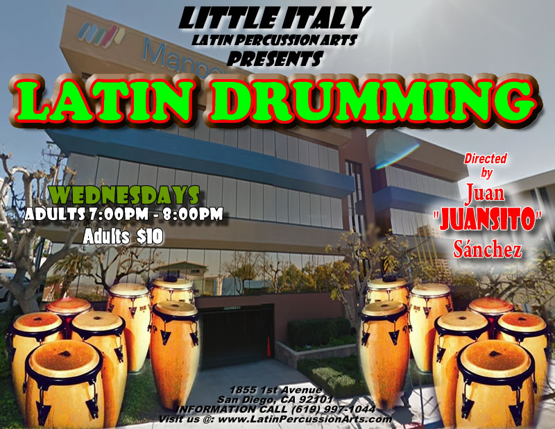 Latin Drumming Class in Little Italy @ Manpower | San Diego | California | United States